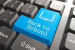 """Keyboard with """"Back to School"""" Button."""